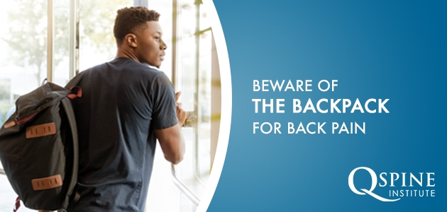back pain from backpacks